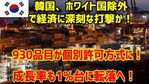 韓国、ホワイト国除外で経済に深刻な打撃か![1]